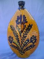 Modern kerámia design váza, 24 cm  EXTRÉM RITKA  100% HIBÁTLAN