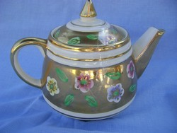 Viktorianus időkből származó 22 arannyal festet angol teáskanna kopásmentes   cca 1880 évek