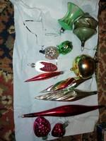 Eladásra kínálok Ritka Antik karácsonyfa díszeket 12 db