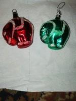 Eladásra kínálok Ritka Antik karácsonyfa díszeket, 2 db elefánt igazi ritkaság