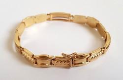 Gyönyörű 14K arany Női karkötő karlánc 18.3gr