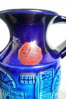 Jelzett vintage Bodo Man kerámia váza NARVIK 60-as évek fat lava pottery BAY Keramik
