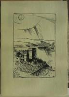Csiby Mihály műve  szignózott, sorszámozott  mérete:13,5cmX20cm lap mérete:21cmX29,5cm