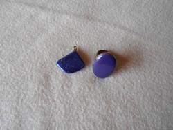 Antik lápisz lazuli köves medál és fém gyűrű