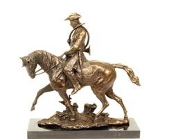 XV. Lajos francia király a lovon - hatalmas bronz szobor