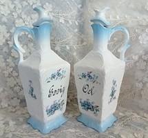 Antik fajansz olaj, ecet tartó/ db