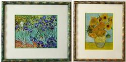 2 db Osztrák, Van Gogh reprodukció, paszpartus keretben, 21,5x18,5 cm,