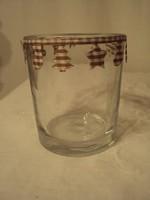 Gyertyatartó - üveg - fél liter - hibátlan 700 Ft / darab