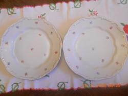 Zsolnay kis virágos lapos tányér 2 db