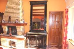 Ónémet oszlopos márványlapos hatalmas tükrös komód 263 cm