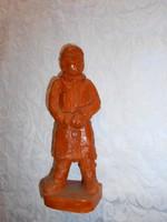 Terrakotta  kisfiú szobor-kézi formálás