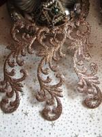 Szépséges barokk fém karácsonyfadísz csillámló pezsgő színben