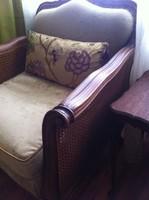 Chippendale barokk ülőgarnitúra, kanapé és két fotel  Felújított