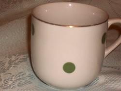 Régi szép zöld pettyes csésze 2 dl