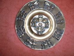 Bronz Kopcsányi Ottó fali tányér