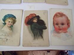 Antik képeslapok 1910- es évek 6 darab