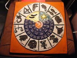Horoszkóp kerámia kép falidísz
