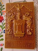 Zalakerámia falidísz,Balassagyarmat felirattal