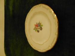 Zsolnay virágmintás miniatűr tányérka
