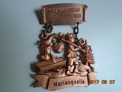 1980 Bajor túra jelvény/plakett:4. nemzetközi túra Kammerstein Marienquelle-8,5x6 cm