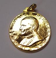 Vatikáni emlékérem, II. János Pál pápa.