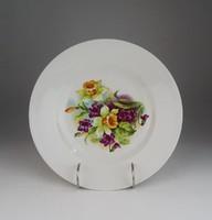 0U221 Antik virágos porcelán dísztányér 23 cm
