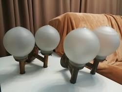 Szecesszió, art deco réz falikar párban, összesen 4 db