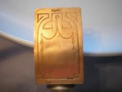 U8 SZECESSZIÓS Gyufatartó és hamutál egyben, antik ezüstözött cizellált díszes