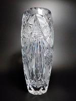 Pazar dúsan csiszolt ólomkristály váza, nagy méret