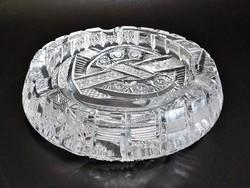 Pazar dúsan csiszolt - vésett ólomkristály hamutál