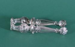 Antik bécsi ezüst cukorfogó, 1840-es évek