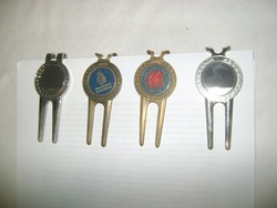Irat összetűző - négy darab - kettő réz, kettő egyéb fém