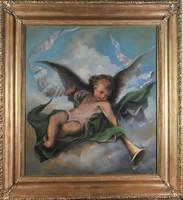 Lotz Károly (1833-1904): Harsonázó angyal, 1870 k.