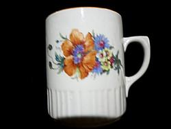 Antik Zsolnay pipacsos szoknyás csésze 54.
