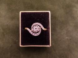 Brilles - gyémántos antik arany gyűrű