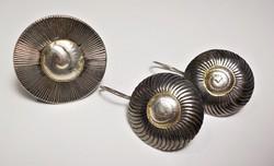 Designer ezüst szett gyűrű és fülbevaló