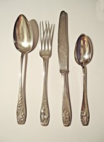 4 részes mese jelenetes ezüst keresztelő készlet