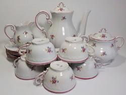 Régi Zsolnay györgyház kontúros barokk 6 személyes teáskészlet