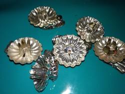 6 antik fém gyertyatartó