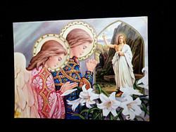 Jézus feltámad, képeslap postatiszta!