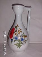 Zsolnay,pipacsos,búzavirágos füles váza 28 cm