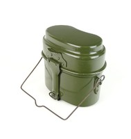 0U379 Régi zöld katonai alumínium csajka