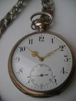 Hibátlan 800-as arany ezüst,PERFECTA Gyönyörű Zsebóra