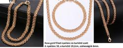 Rose gold filled nyaklánc és karkötő szett