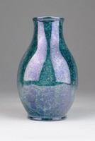 0U400 Hollóházi porcelán irizáló váza 11 cm