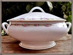 Csodás, ritka Zsolnay porcelán leveses tál