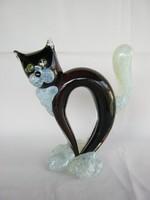 Fekete macska üveg cica
