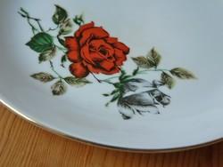 Meseszép Kahla porcelán rózsás süteményes készlet