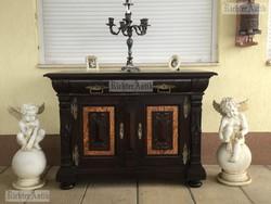 Antik bútor, Barokk komód, félszekrény 02.