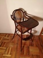Thonet gyerek szék, gyermek etetőszék,antik thonett szék